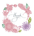 floral wreath pastel african daisies fuchsia vector image vector image