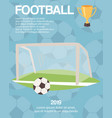 football or soccer goal sports equipment poster vector image