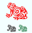 Frog ornate vector image vector image