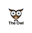 funny owl logo template vector image vector image