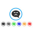 furious smiley message icon vector image vector image