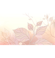 Gentle background with stylized leaves vector image vector image