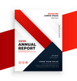 geometric red color annual report business vector image vector image