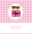 girl out of a gift vector image vector image