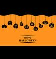 halloween funny horror pumpkin greeting banner vector image vector image