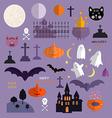Halloween set1 vector image vector image