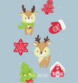 hand drawn deer for merry c vector image vector image