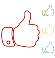 Hand Like Set of line icons vector image vector image