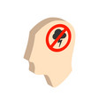 head with storming cloud stress concept symbol vector image vector image