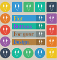 headphones icon sign Set of twenty colored flat vector image