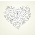 heart floral vector image