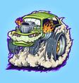 hot road car monster vape vector image vector image