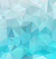 ice blue polygon triangular pattern background vector image vector image