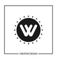 initial letter w logo template design vector image