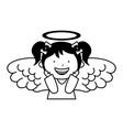 little girl angel character vector image vector image