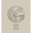Logo Doodle fish Hand drawn vector image vector image