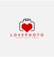 love photo logo design template isolated vector image