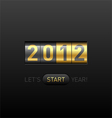 New year counter 2012 vector image