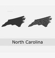 north carolina map counties outline vector image vector image