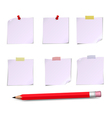 Notes white and pensil vector image vector image