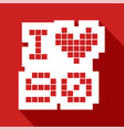 red love 90 icon vector image vector image