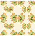 seamless abstract pattern with green flowers vector image
