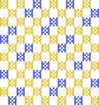Seamless embroidered texture squares vector image vector image