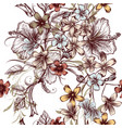 seamless pattern for wallpaper design with flowers vector image