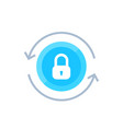 secure access security icon on white vector image vector image