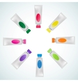 set of tube paint colorful vector image