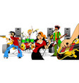 singer and music group vector image vector image