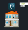 smart house with energy power service vector image