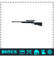 Sniper Rifle icon flat vector image