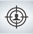 sniper scope crosshair aiming man vector image vector image