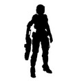 soldier of future vector image