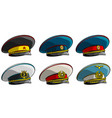 soviet military officer peaked cap with red star vector image vector image