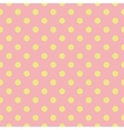 Tile pattern green polka dots on pink background vector image vector image