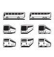 Tourist buses and coaches vector image vector image