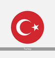 turkey round circle flag vector image