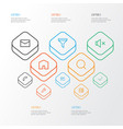 user outline icons set collection mute repair vector image vector image
