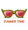 watermelon glasses hello summer time vector image