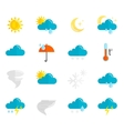 Weather Icons Flat Set vector image vector image