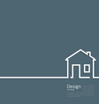 Web template house logo in minimal flat style vector image vector image