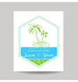 wedding invitation card - save date - tropical vector image vector image
