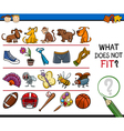 what does not fit game cartoon vector image