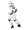 white ninja vector image vector image