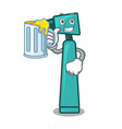with juice otoscope mascot cartoon style vector image vector image