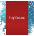 Christmas red Banner with white Snowflakes vector image