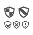 set of protection shield icons on a white vector image