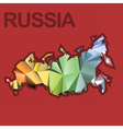 Digital russia map with abstract colored vector image